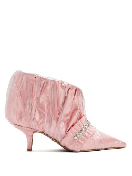 PACIOTTI BY MIDNIGHT boot embellished satin pink shoes