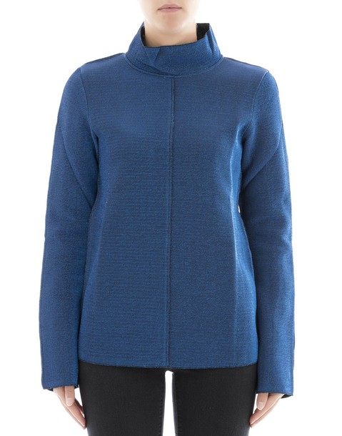 turtleneck blue sweater
