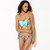 Bow Bikini in Graphic Floral Mint - Jade and Juliet
