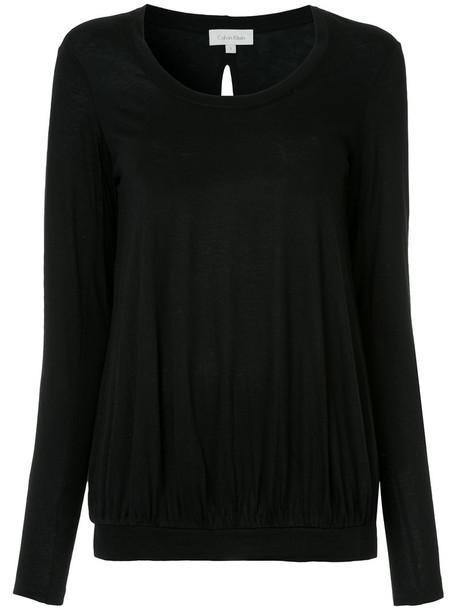 Ck Calvin Klein blouse back women black top