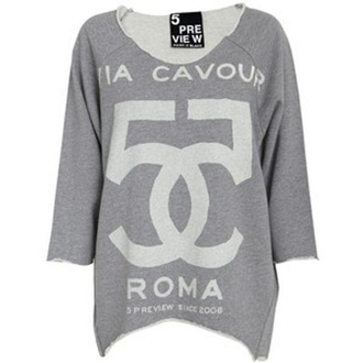 sweater oversized roma 5preview viaromacavour 55 chanel grey grey sweater off shoulder shirt shirt