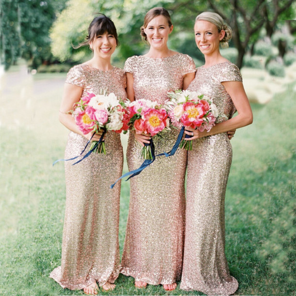 b11425b4df1 dress sequined bridesmaid dress bridesmaid dress with gold sequins backless bridesmaid  dress classy bridesmaid dress