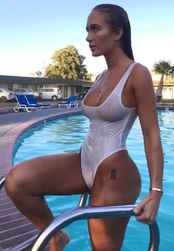 swimwear, sexy, white, one peice swimwear, transparent