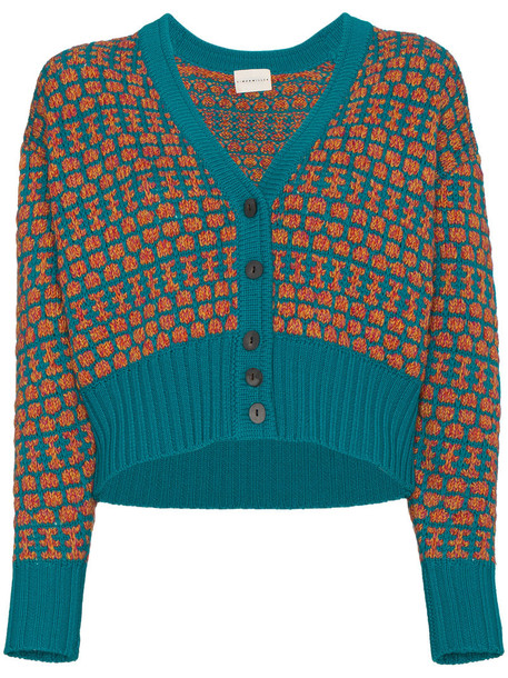 Simon Miller cardigan knitted cardigan cardigan women blue wool sweater