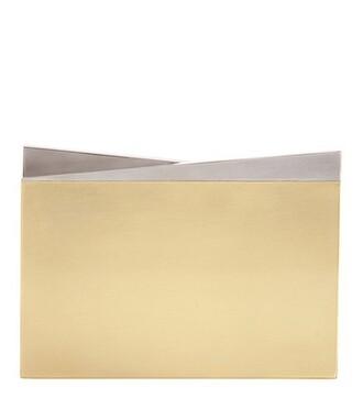 metal clutch gold bag