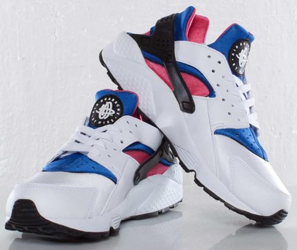 pink blue white huaraches