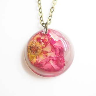 jewels summer summer handcraft red rose rose flowers floral necklace handmade cute gift ideas giftideas jewwlry