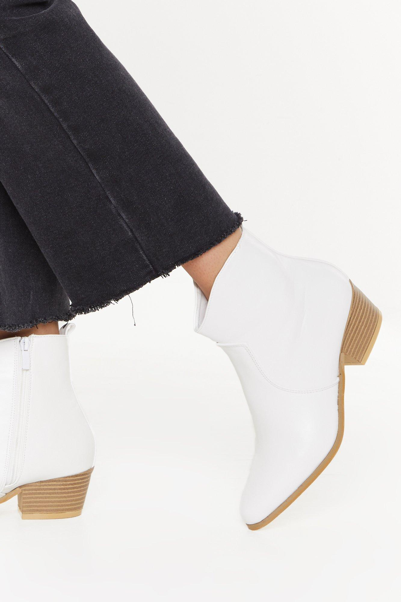 Making a Point Faux Leather Western Boots | Nasty Gal