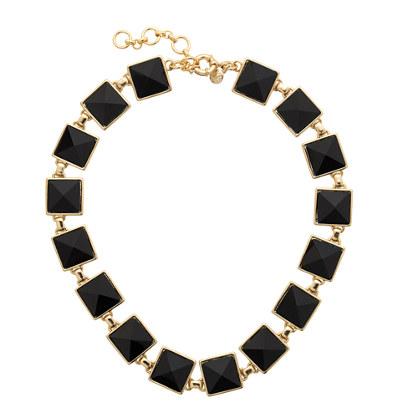 Pyramid stone necklace