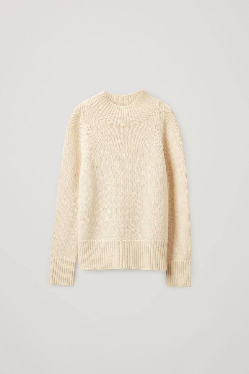 CASHMERE CHUNKY ROLL-NECK JUMPER