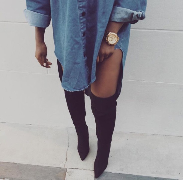 top denim oversize