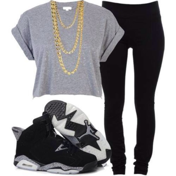 shoes air jordan black white swag jeans t-shirt top crop tops