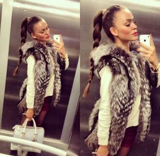 coat fur trendy iphone winter sweater cardigan gilet fourrure
