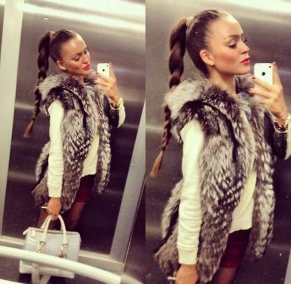 fourrure cardigan gilet coat fur