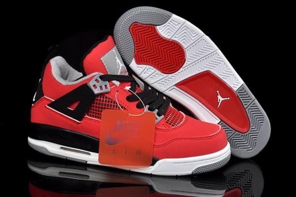 Air Jordan 4 Retro Bulls Red/Black Women's shoes