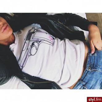blouse gun style gangsta thug photos