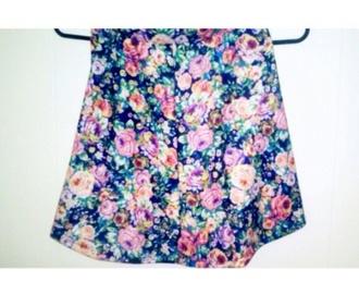 skirt floral skirt fashion spring spring trends 2014 ootd summer bright pale grunge pastel style circle skirt skater skirt spring 2015