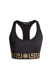 bra,sports bra,print,gold,black,underwear
