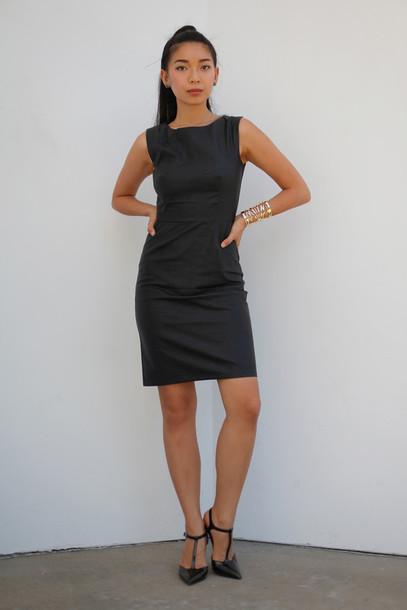 Dress Little Black Dress Black Dress Leather Dress Party Dress