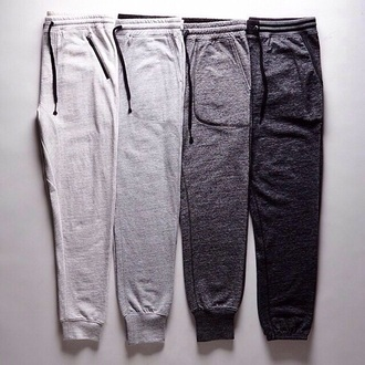 pants joggers women gray