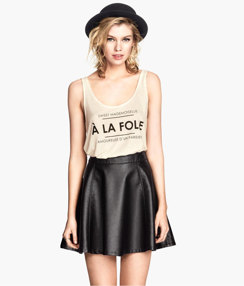 H&M Imitation Leather Skirt $24.95