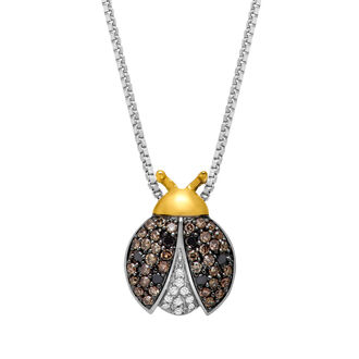 jewels ladybug ladybug necklace gold and silver necklace gold and silver diamond necklace sterling silver necklace sterling silver