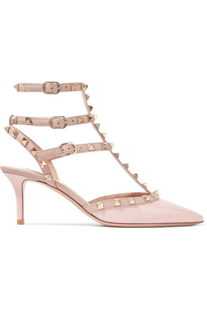 Valentino pumps leather blush shoes