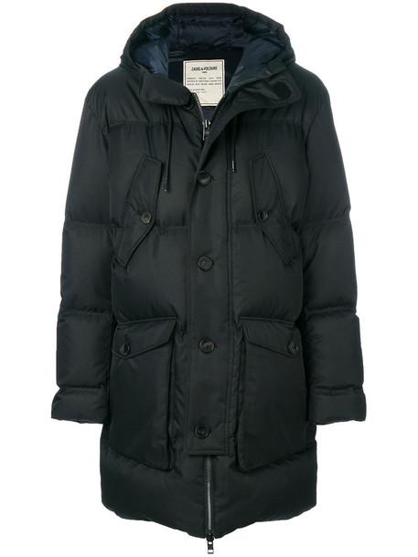 Zadig & Voltaire parka women black coat