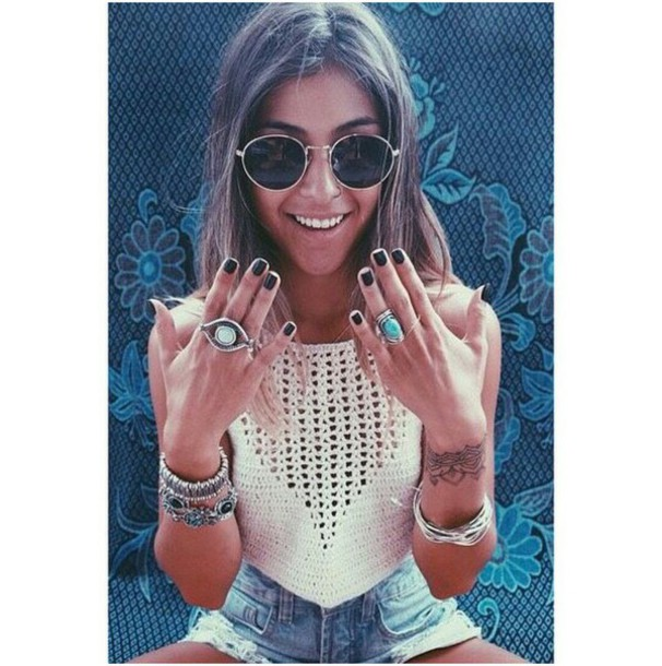 Jewels Jewelry Jewellery Rings Bracelets Ring Charms Sunglasses Indie Boho Sweater