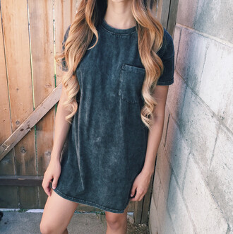 t-shirt dress grey pockets