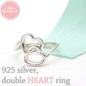 jewels,jewelry,ring,heart jewelry,open heart ring,sterling silver ring,lovely,forever,crossed heart ring