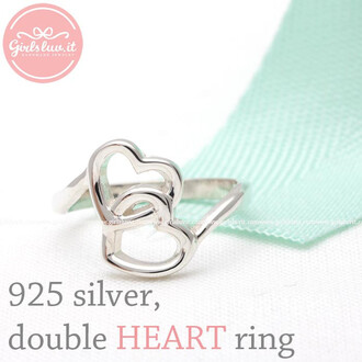 ring heart ring jewels lovely open heart ring forever sterling silver ring crossed heart ring valentines day gift