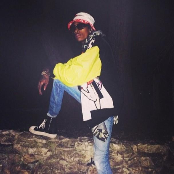 hat bucket hat wiz khalifa yellow dope weed fashion