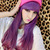 Japanese Harajuku Zippe Purple Gradient mix 70cm Lolita Kawaii Cosplay Party Wig