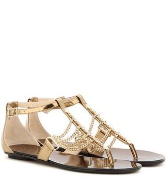 embellished sandals leather sandals leather gold shoes