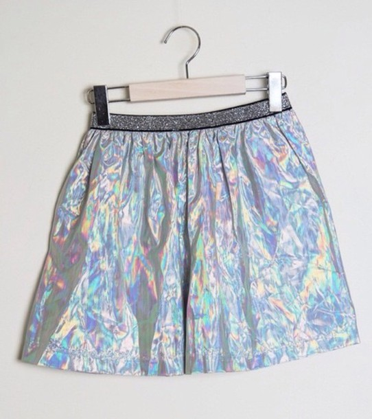 skirt holographic glitter kawaii grunge