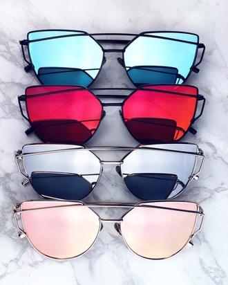 sunglasses colored mirrored sunglasses retro sunglasses blue sunglasses