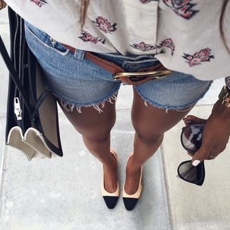 symphony of silk blogger shorts top shoes bag