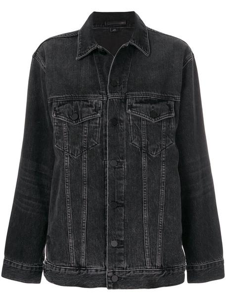 Alexander Wang jacket denim jacket denim women cotton black