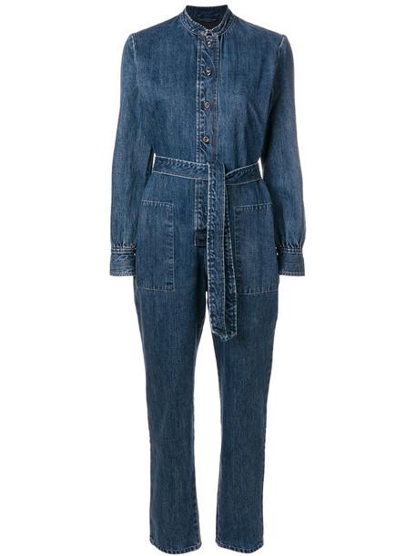 A.P.C. jumpsuit long women cotton blue