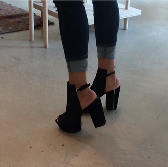 shoes open toes black ankle boots cut-out minimalist shoes black heels boots booties shoes black heels high heels