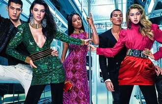 dress sequins sequin dress gigi hadid kendall jenner jourdan dunn balmain fashion