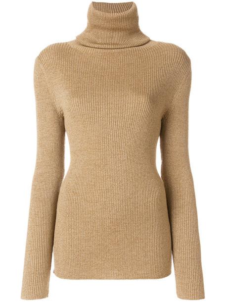 Vanessa Seward sweater turtleneck turtleneck sweater metal women nude wool