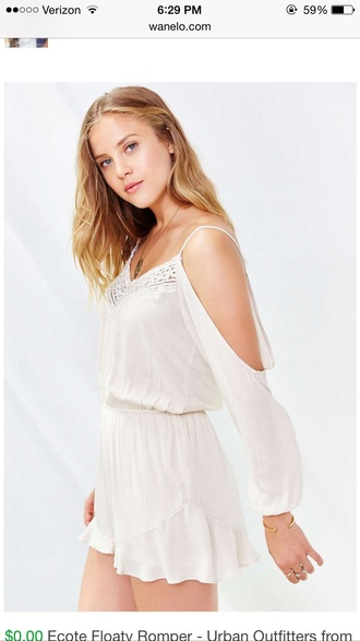 romper urban outfitters white lace