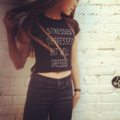 t-shirt,stressed,hipster,cool,black skirt,black and white,cut offs,shirt,black,dressed,la