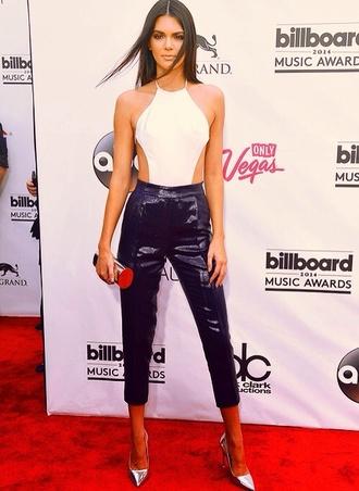 jumpsuit black and white black white kendall jenner kardashians style