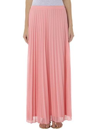 skirt long skirt light pink maxi skirt pleated skirt maxi pink pink skirt