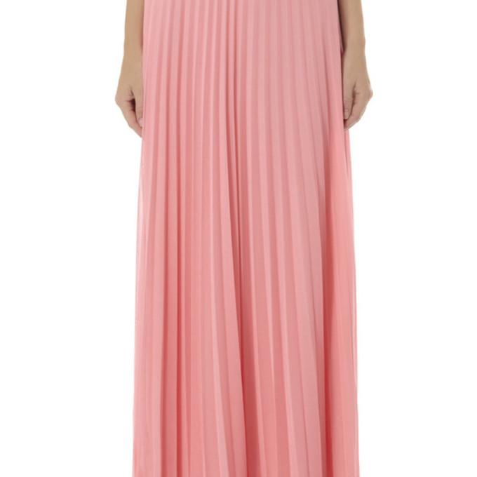 pink pink skirt maxi skirt maxi pleated skirt pleats