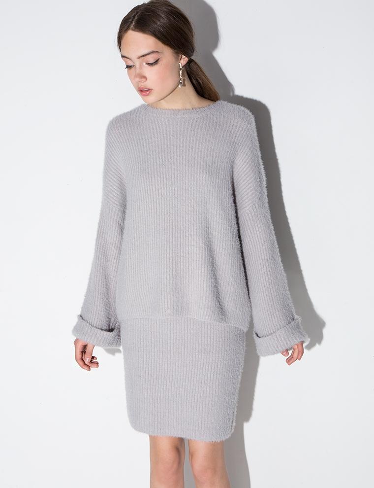 Sweater Knit Skirt 13