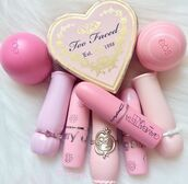 make-up,mac cosmetics,pink,eos,lip balm,face care,heart,girly wishlist,all pink wishlist,pink lipstick